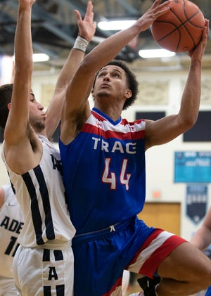 Zane Trace's Triton Davidson goes up for a layup during a 54-41 win over Adena on Friday, Feb. 07, 2020, in Frankfort, Ohio.