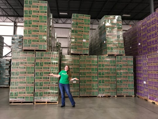 Girl Scout volunteers are picking up initial cookie orders Saturday.