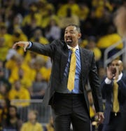 Michigan coach Juwan Howard during action against Michigan State on Saturday, Feb. 8, 2020 at the Crisler Center in Ann Arbor.