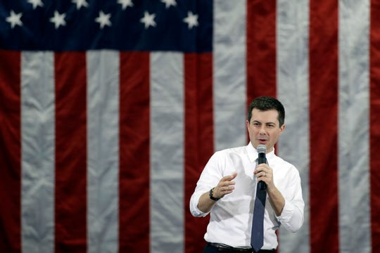 Democratic presidential candidate former South Bend, Ind., Mayor Pete Buttigieg speaks during a campaign event Saturday, Feb. 1, 2020, in Dubuque, Iowa.