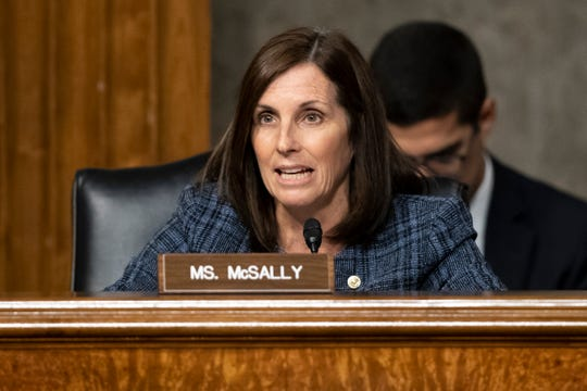 Sen. Martha McSally, R-Ariz., used to keep her distance from Trump. But then, as she campaigned in 2018 for a Senate seat, she embraced Trump and won the Republican primary.