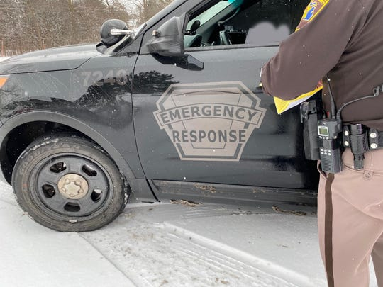 Oakland County Sheriff Michael Bouchard said this vehicle, which he pulled over Thursday, had police markings but not those of any particular department, which raised his suspicion.