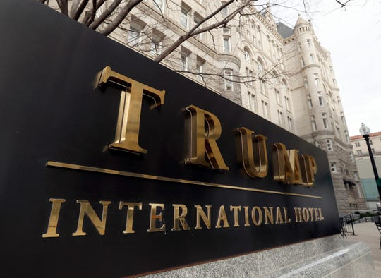 FILE - In this Dec. 21, 2016, file photo, The Trump International Hotel at 1100 Pennsylvania Avenue NW, is photographed in Washington.