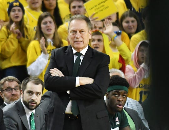 Michigan State coach Tom Izzo.