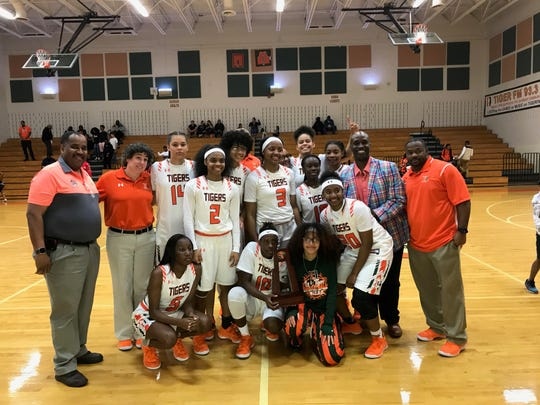 The Dunbar girls basketball team won the District 6A-12 title.