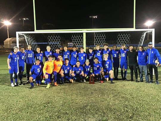 Juan Parra's hat trick led Cape Coral to a 6-1 win over South Fort Myers Friday night to earn the District 5A-11 championship.
