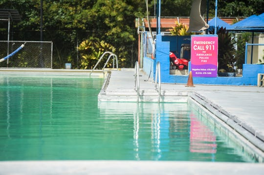 The Agana Pool, closed since Jan. 17, 2020, by the Guam Environmental Protection Agency, due to test results shwoing unacceptable levels of chlorine and the presence of coliform bacteria, is pictured on Feb. 8, 2020.