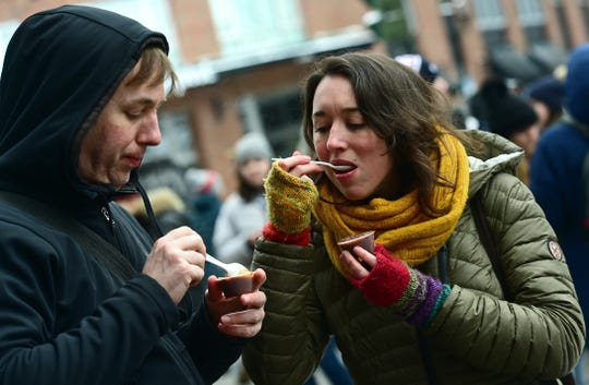The 22nd Annual Downtown Ithaca Chili Cook-Off featured over 40 chilis by more than 30 area restaurants. There were also local wineries, breweries, entertainment and family-friendly activities. February 8, 2020.
