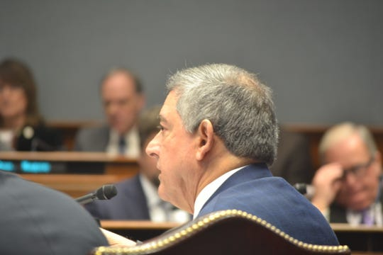 Commissioner of Administration Jay Dardenne presented Gov. John Bel Edwards' proposed state budget Friday at a hearing in the Capitol.