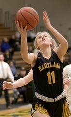 Hartland's Amanda Roach scored a career-high 18 points in a 47-45 victory at Howell on Friday, Feb. 7, 2020.