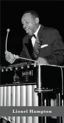 Lionel Hampton (1908-2002) was raised by his mother in Louisville. During Hampton's teenage years, he began to play the drums and took xylophone lessons. Hampton became a renowned jazz vibraphonist, pianist, percussionist and bandleader.