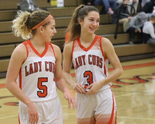 Lucas' Shelby Grover (3) was a top freshman in the area last season and has a bright future ahead of her in three sports.
