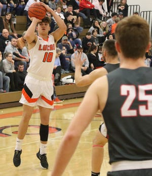 Lucas' Logan Niswander was named the 2019-20 Northwest District Division IV co-Player of the Year.