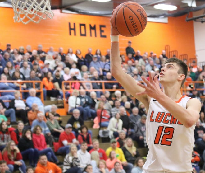 Lucas' Riley Gossom broke the single-season scoring record with 566 points during the 2019-20 season. He is proud to call the Cub Cave home.