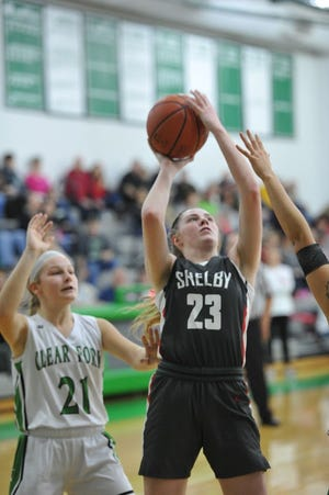 Shelby's Olivia Baker led the Lady Whippets to their second-consecutive undefeated MOAC title season.