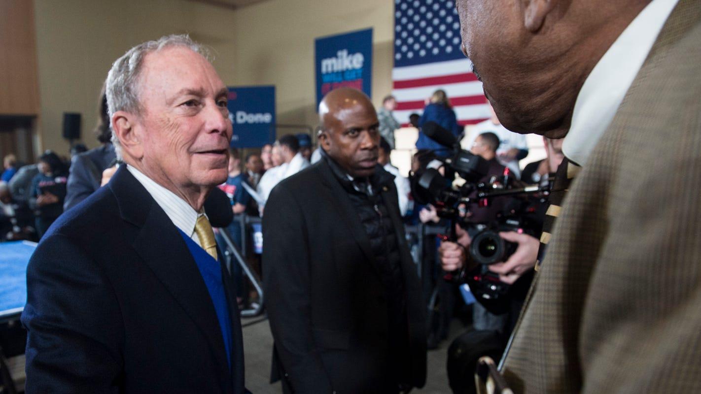 Image result for Bloomberg advocates targeting minorities