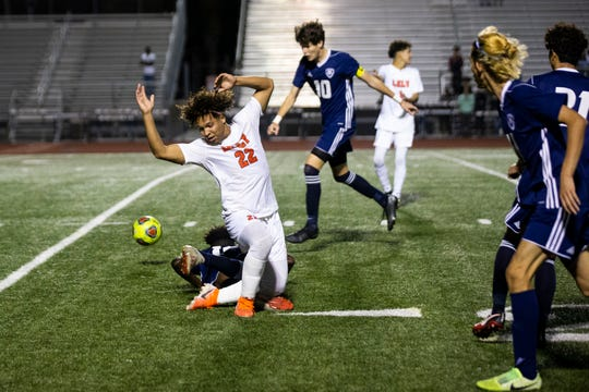 Naples High School hosted Lely High School in the Class 5A-District 12 soccer final on Friday, Feb. 7, 2020. Naples defeated Lely 2-1.