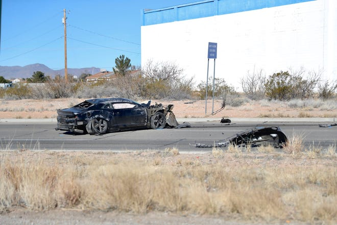Las Cruces police are investigating a fatal crash along Bataan Memorial West, near Sonoma Ranch Boulevard and US 70, on Saturday, Feb. 8, 2020.