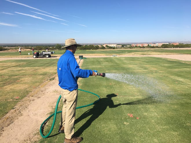 New Mexico State University's Extension Turfgrass Specialist Bernd Leinauer and his team are studying the impact chemical surfactants have on water use, irrigation requirements and overall soil health. The surfactants being used are chemically very similar to dishwashing soap.