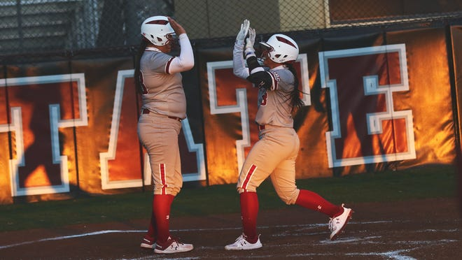 The New Mexico State softball team earned a 13-4 win over Bradley on Friday.