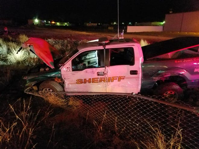 Sixteen-year-old Samaria Gray was convicted of crashing a stolen San Juan County Sheriff's Office patrol vehicle while intoxicated on Monday, Dec. 18, 2017. The vehicle was crashed near the intersection of Bloomfield Highway and Resource Road in Farmington. Her family is suing the Sheriff's Office.