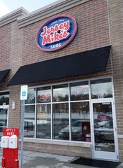 The exterior of a Jersey Mike's sandwich shop.