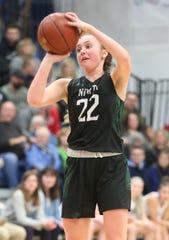 Emma Leib finishes a three-sport career at Oshkosh North.