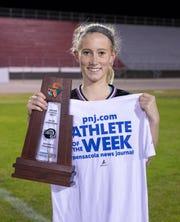Athlete of the Week - Navarre girls soccer player - Hailey Bastian (23) at Navarre High School on Friday, Feb. 7, 2020.