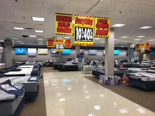 Sears at the Poughkeepsie Galleria holds going-out-of-business  liquidation sales on Saturday afternoon.