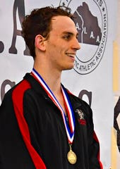 Susquehannock's Logan McFadden wins the boys' 100 Yard Breaststroke at 58.77 during the YAIAA Swimming and Diving Championships at Central York High School in Springettsbury Township, Saturday, Feb. 8, 2020. Dawn J. Sagert photo