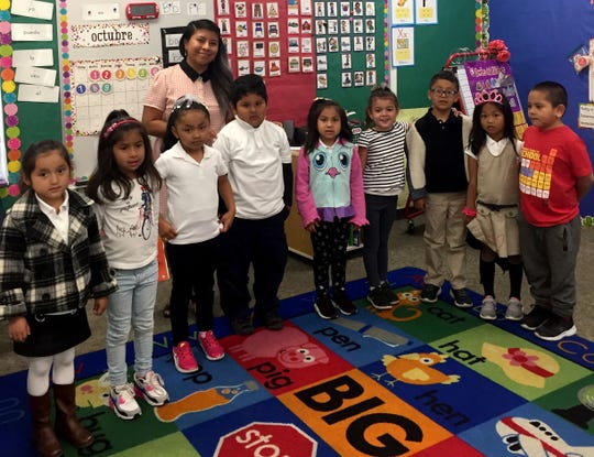 Creekside Elementary kindergarteners pose for the camera in fall 2019. A dual immersion program has expanded to Creekside.