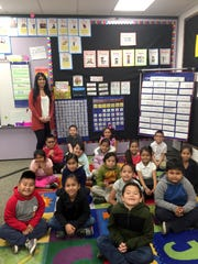 Creekside Elementary first-graders pose for the camera in fall 2019. A dual immersion program has expanded to Creekside.