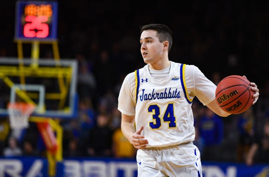 Alex Arians is one of three Wisconsin-connected members on the South Dakota State team.