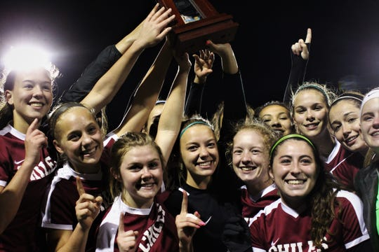 Chiles' girls soccer team edged Lincoln in a penalty-kick shootout following 100 minutes of scoreless soccer to capture the District 2-A title on Feb. 7, 2020.