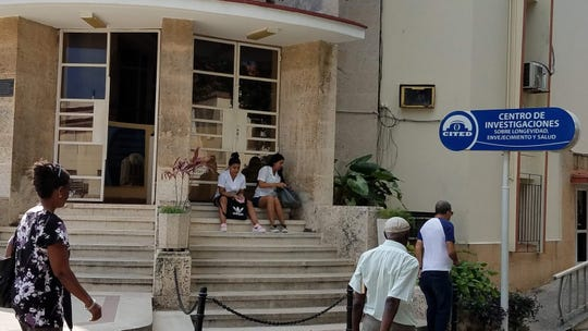 Outside a Clinic at Havana Universitys Medical School during a visit in January 2020.