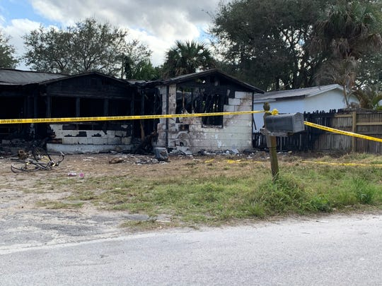A house on Tenth Place, south of Vero Beach, was destroyed in a house fire on February 6, 2020, Indian River County Fire Rescue said.