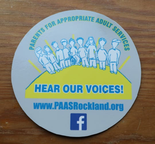 A logo for the Parents for Appropriate Adult Services car magnet pictured, Feb. 8, 2020.