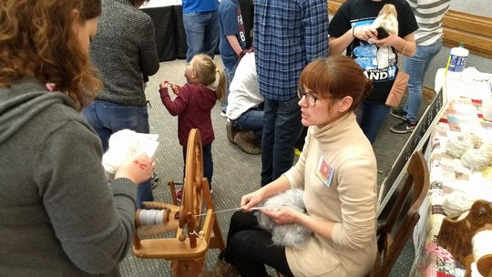 A vendor doing a spinning wheel demonstration at the annual Arts Alive! Home & Garden Festival at the Ray Clymer Exhibit Hall set for 9 a.m. to 6 p.m. Saturday, Feb. 22, 11 a.m. to 5 p.m. Sunday, Feb. 23. There will be egg hatching, gardening and other activities in the Education area.