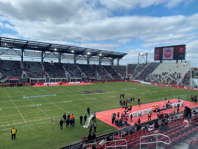 A general view of Audi Field, home of the DC Defenders.