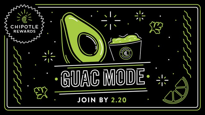 """Chipotle launches """"Guac Mode"""" but to take advantage of the new feature and get free guac, you need to sign up for Chipotle Rewards by Feb. 20."""