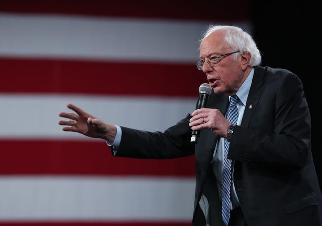 Sen. Bernie Sanders, I-Vt., campaigns in Concord, New Hampshire, on Feb. 8, 2020.