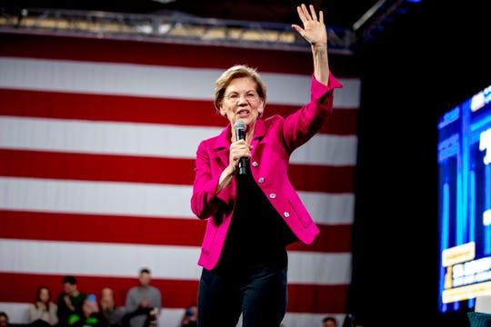 Sen. Elizabeth Warren, D-Mass., was the top pick for a running mate in a poll.