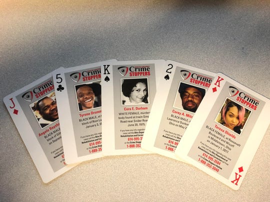 CEO Hope Dudley said the playing cards have been placed in Ohio prisons, jails, and lock-up facilities as a crime-fighting tool.