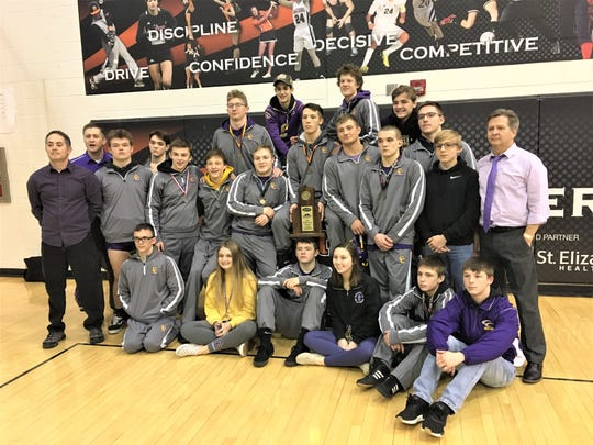 Campbell County Camels, Region 6 team wrestling champions, Feb. 8, 2020.