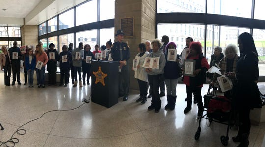 Sunday was an emotional day for Sheilds and 25 other individuals who gathered at the Hamilton County Justice Center to tell their loved ones' stories and to encourage people to come forward if they have information related to homicide cases.