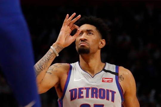 Detroit Pistons forward Christian Wood