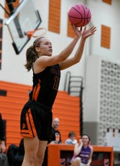 Elaine Halonen and Brighton check in at No. 3 in the North in this week's Detroit News girls basketball rankings.