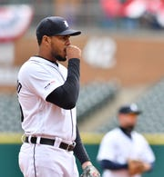 Jeimer Candelario likely will battle Dawel Lugo for the Tigers' job at third base.
