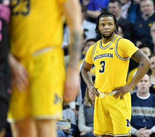 Michigan senior point guard Zavier Simpson, who last month crashed the car owned by the wife of athletic director Warde Manuel and was cited for driving too fast for conditions, has at least three speeding tickets on his driving record, including one for driving more than 100 mph on the freeway.