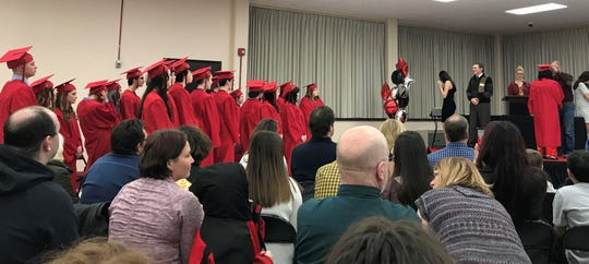 There were 22 students who participated in the ceremonies for the alternative high school.